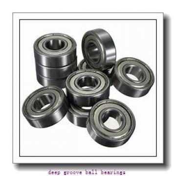 6,35 mm x 9,525 mm x 10,719 mm  SKF D/W R168 R-2Z deep groove ball bearings
