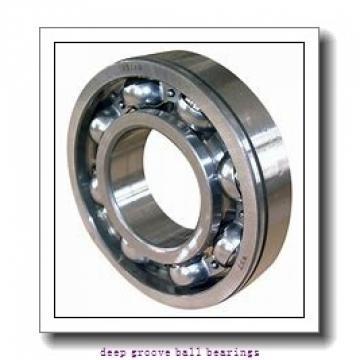 12.7 mm x 22.225 mm x 5.558 mm  SKF D/W R6-5 deep groove ball bearings